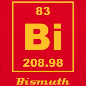 Element 83 - bi (bismuth) - Small Koszulki - Koszulka męska