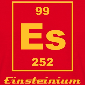 Element 99 - es (einsteinium) - Small T-skjorter - T-skjorte for menn