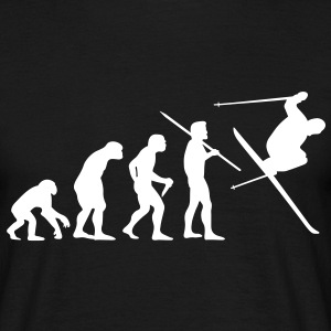 Men's Evolution of Man - Skier #1 T-Shirt - Men's T-Shirt