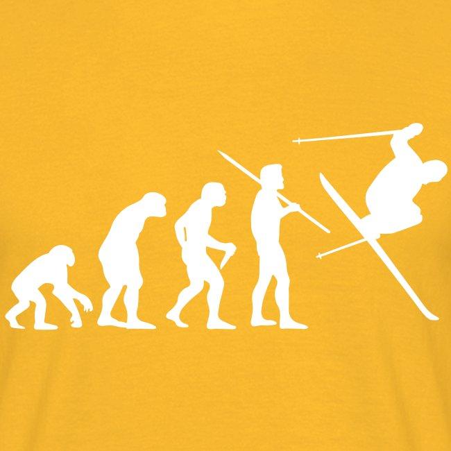 "Men's ""Evolution of Man - Skier"" T-Shirt - B&C"