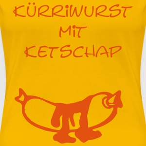 currywurst T-Shirts - Frauen Premium T-Shirt