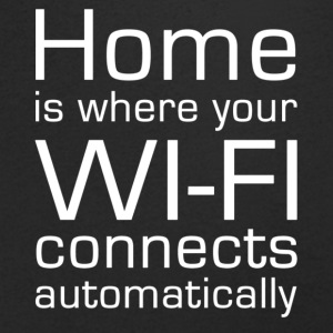 Home is where your WIFI connects automatically - Männer T-Shirt mit V-Ausschnitt