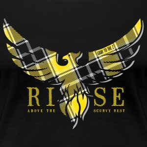 Rise Yellow Tartan Girls Tee - Frauen Premium T-Shirt