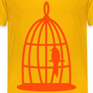 Bird in the cage Shirts - Kids' Premium T-Shirt