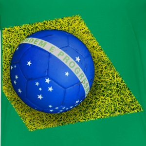 Brazil diamond cross football Shirts - Teenage Premium T-Shirt