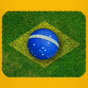 Brasilien flag football design T-shirts - Børne premium T-shirt