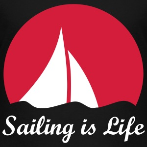 Sail sailboat sailing logo sailboat in the wind Shirts - Kids' Premium T-Shirt
