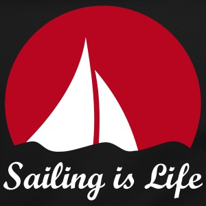 Sail sailboat sailing logo sailboat in the wind Bags & Backpacks - Shoulder Bag