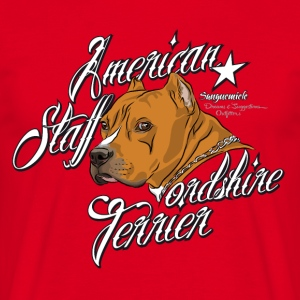 american_staffordshire_terrier_yellow_ T-shirts - Mannen T-shirt