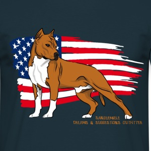 amstaff_usa_flag T-Shirts - Men's T-Shirt