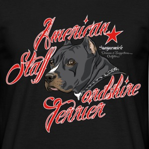 american_staffordshire_terrier_gray T-shirts - Mannen T-shirt