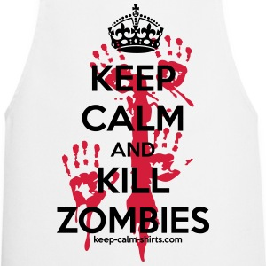 keep calm and kill zombies kcs Schürzen - Kochschürze
