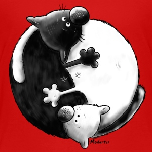 Black and White - Yin Yang - Chats Tee shirts - T-shirt Premium Enfant