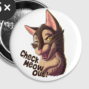 check meow out button - Buttons groß 56 mm