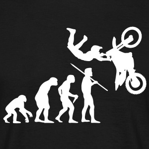 Men's Evolution of Man - Motorcross T-Shirt - Men's T-Shirt