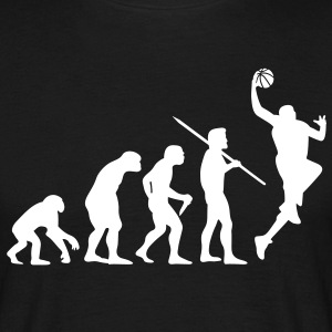 Men's Evolution of Man Basketball #2 T-Shirt - Men's T-Shirt