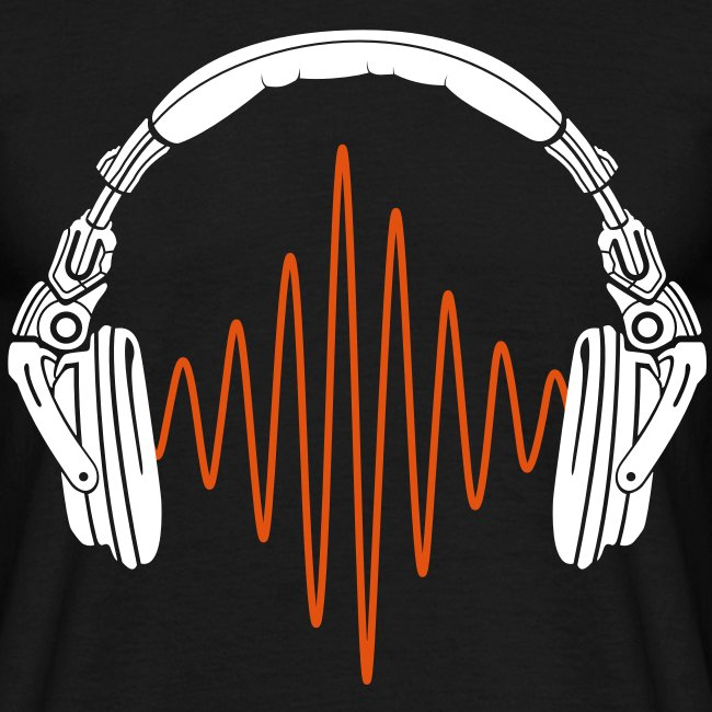 "Men's ""Headphone & Sound Wave"" T-Shirt - B&C"