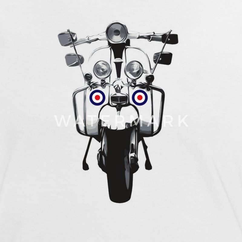Mod Scooter Ladies T-shirt - Women's Ringer T-Shirt