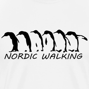 nordic walking pinguins T-Shirts - Männer Premium T-Shirt