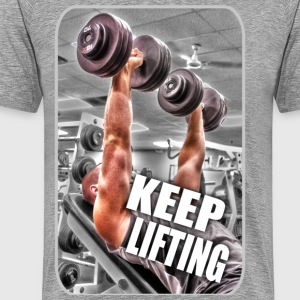 Keep Lifting - Gym - Weight Training - Muscle T-Shirts - Men's Premium T-Shirt