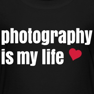 photography is my life la photographie est ma vie Tee shirts - T-shirt Premium Enfant