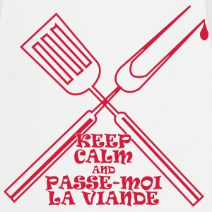 KEEP CALM and Passe-moi la viande 2 Tabliers - Tablier de cuisine
