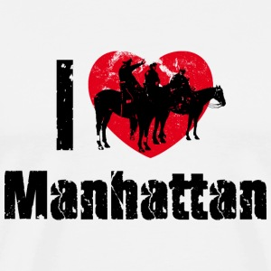 Männershirt I love Manhattan New York City - Männer Premium T-Shirt