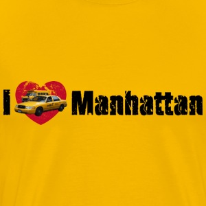 Männershirt I love Manhattan (NYC) - Männer Premium T-Shirt