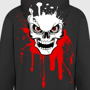 skull splash 02 Hoodies & Sweatshirts - Men's Premium Hooded Jacket