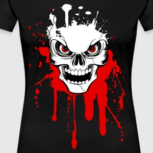 skull splash 02 T-Shirts - Frauen Premium T-Shirt