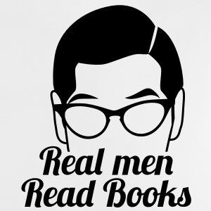 Real men READ books! with serious glasses man face Shirts - Baby T-Shirt