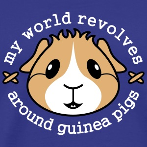 'My World Revolves Around Guinea Pigs' Men's Tee - Men's Premium T-Shirt