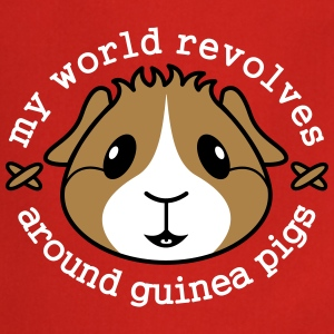'My World Revolves Around Guinea Pigs' Apron  - Cooking Apron