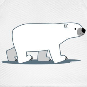 Walking Cartoon Polar Bear - Cheerful Madness!! Caps & Hats - Baseball Cap