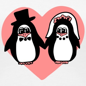 penguin wedding T-Shirts - Women's Premium T-Shirt