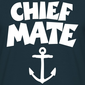 Chief Mate T-Shirt Anchor (Navy/Front) - Männer T-Shirt