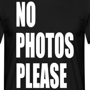 no photos please - Männer T-Shirt