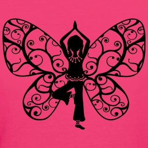 Yoga girl, butterfly wings, fairy, asana, teacher T-Shirts - Women's Organic T-shirt