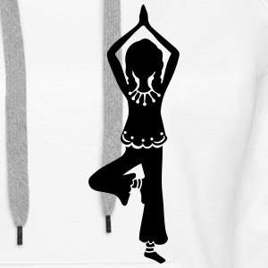 Yoga Girl, Tree, asana, yoga teachers, meditation Hoodies & Sweatshirts - Women's Premium Hoodie