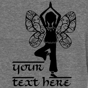 Yoga girl, butterfly wings, fairy, asana, teacher Felpe - Felpa con scollo a barca da donna, marca Bella