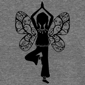Yoga girl, butterfly wings, fairy, asana, teacher Bluzy - Bluza damska Bella z dekoltem w łódkę