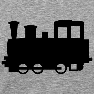 Old Steam locomotive - Men's Premium T-Shirt