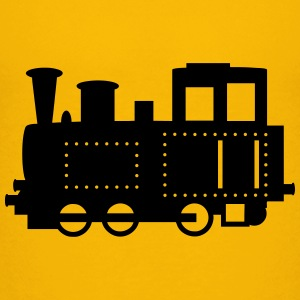 Steam locomotive with rivets - Teenage Premium T-Shirt