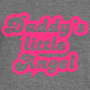 Daddy's little angel Hoodies & Sweatshirts - Women's Boat Neck Long Sleeve Top