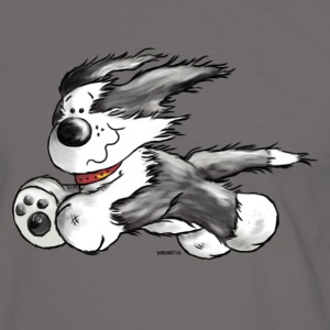 Beardie Power - Bearded Collie - Hund - Männer Kontrast-T-Shirt