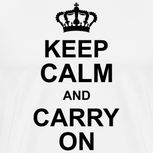 keep_calm_and_carry_on_g1 T-shirts - Herre premium T-shirt