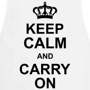 keep_calm_and_carry_on_g1 Delantales - Delantal de cocina