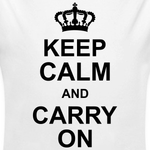 keep_calm_and_carry_on_g1 Sudaderas - Body orgánico de manga larga para bebé