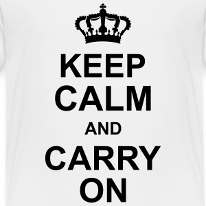 keep_calm_and_carry_on_g1 Shirts - Kinderen Premium T-shirt