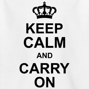 keep_calm_and_carry_on_g1 Magliette - Maglietta per ragazzi